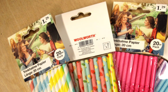 Woolworth straight and bendable paper straws