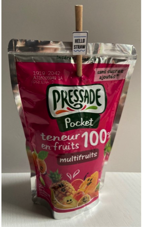 Classic straight straws for juice pack